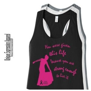 Women Strong Enough TEAM ARCROSS82 Pink Print Tank